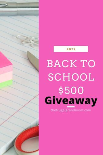 Back to School $500 Giveaway