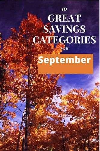 10 Great Savings Categories for September