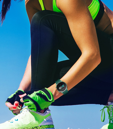 Exercising with Urun Smart Watch