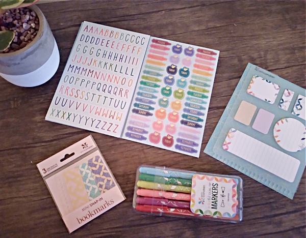 Stickers, Bookmarks, Pens