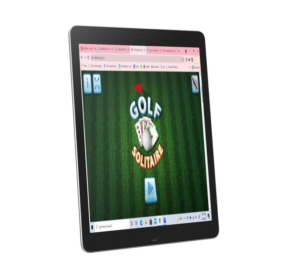 Golf Solitaire on Tablet