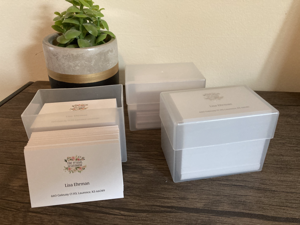 boxes of business cards